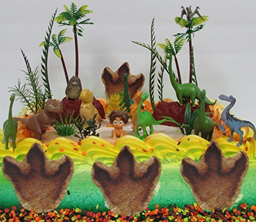 Disney The GOOD DINOSAUR Birthday CAKE Topper Set Featuring Spot, Arlo, Thunderclap, Butch, Bubbha, Forrest Woodbush and More