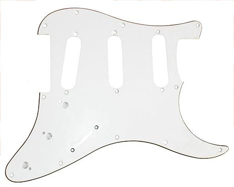El surf SSS 3 de capas de guardia de la selección de la guitarra eléctrica/