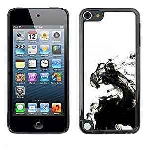 PC/Aluminum Funda Carcasa protectora para Apple iPod Touch 5 Ink White Clean Minimalist Water / JUSTGO PHONE PROTECTOR