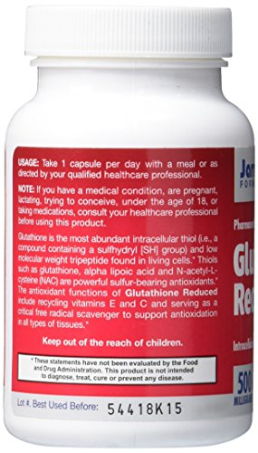 Jarrow Formulas Glutathione Reduced Antioxidant 500 mg Caps