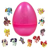 12 My Little Pony Figures Inside 1 Jumbo Easter Egg - Fluttershy and Friends - Prefilled To Save You Time - Find Your Favorite Characters - Great Party Favor and Candy Alternative - Hours of Fun Play