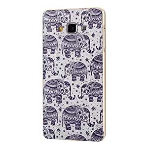 QYF 20150511 Samsung GALAXY A3 Metal/Plastic Graphic/Special Design Bumper/Back Cover(Gold/Silver) , Gold