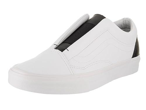 805d016f52 Vans Unisex Old Skool Laceless (Classic Tumble) Tr Wht Blk Skate Shoe 8