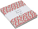"""Love You Charm Pack By Sandy Gervais; 42 - 5"""" Precut Fabric Quilt Squares"""
