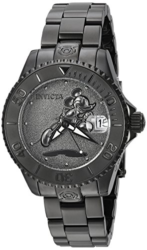 Invicta Women's 'Disney Limited Edition' Automatic Stainless Steel Casual Watch, Color:Black (Model: 24534)