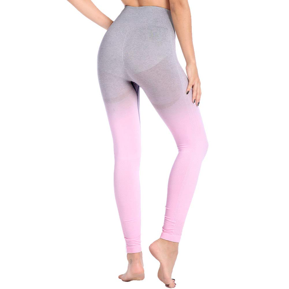 e3b899100 Aoxjox Yoga Pants for Women High Waisted Gym Sport Ombre Seamless Leggings  product image