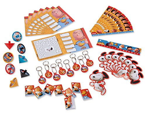 Peanuts Movie Party Favor Pack American Greetings 48 pieces mega mix (Discontinued by manufacturer) (Snoopy Party Supplies compare prices)