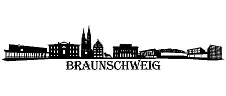 Plot4u Wandtattoo Braunschweig Skyline Wandaufkleber In 9 Grossen Und