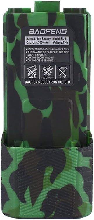 Ba30DEllylelly Original UV-5R BL-5L 7.4V 3800mAh Bater/ía de iones de litio de alta capacidad para Baofeng Walkie Talkie UV-5R Serie Radio bidireccional