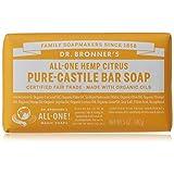 Dr. Bronner's Magic Soap Citrus Orange Bar Soap, 140-Gram