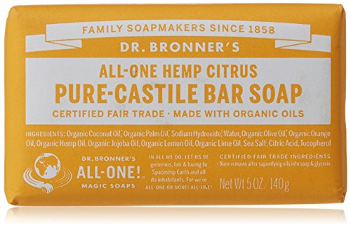Dr Bronner Orange Soap (Dr. Bronner's Pure-Castile Bar Soap – Citrus Orange, 5 oz)