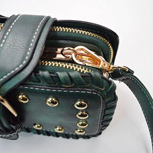 Millya - Cartera de mano para mujer, verde (verde) - kb-00359-01 verde