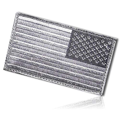 USA United States of America American Reverse Flag Stars Stripes US Morale Tactical Army Military Patiot Patriotism Unity Hook & Loop Fastener Patch [3.2
