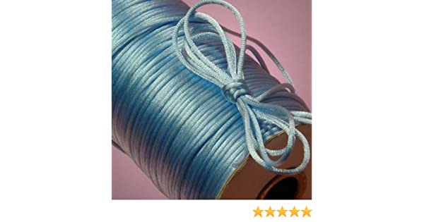 10y 100yd 2mm Satin Rattail Cord Nylon Shamballa Macrame Beading kumihimo string