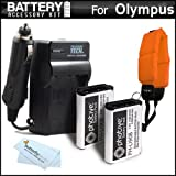 2 Pack Battery and Charger Kit Bundle for Olympus Tough TG-Tracker, TG-5, TG-2iHS, TG-3, TG-4 Waterproof Digital Camera…