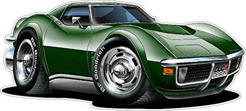1968-1972 Corvette WALL DECAL 2ft long Vinyl Reusable Movable Fun Stickers for Boys Classic Cartoon Cars Home Decor