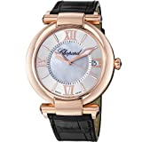 Chopard Imperiale Men's Mother of Pearl Dial Brown Leather Strap Watch 384241-5001
