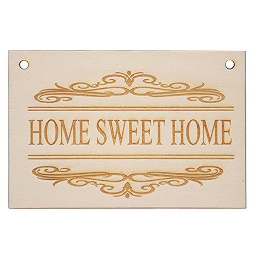 Protinam Home Sweet Home Puerta Cartel con Grabado de ...