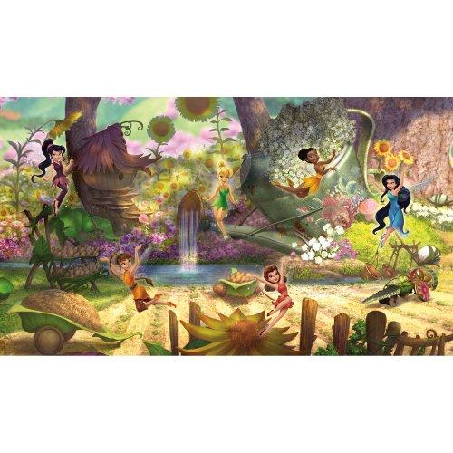 RoomMates JL1279M Ultra-Strippable Disney Fairies Pixie Hollow Mural, 6-Feet x 10.5-Feet, 1-Pack