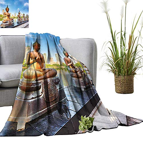 YOYI Single-Sided Blanket Seema Malaka Temple on Beira Lake Colombo,Sri Lanka for Bed & Couch Sofa Easy Care 60
