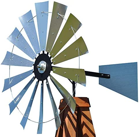 Height 1,40 Meter Windmill North Art With Balconettes