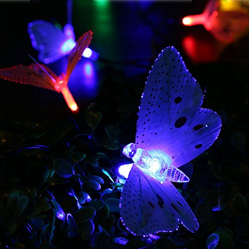 LUCKLED Solar String Lights, 12ft 12 LED Waterproof Fiber - Import It All