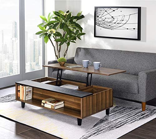 Cheap 47'' Coffee Table Lift Top Wood Home Living Room Modern Lift Top Storage Coffee Table living room table for sale
