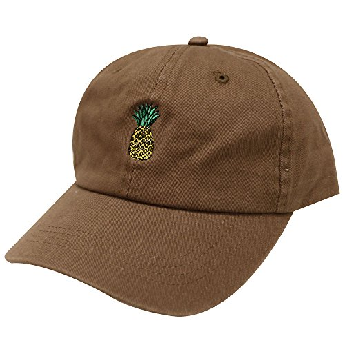 City Hunter C104 Pineapple Cotton Baseball Cap Multi Colors (Brown)