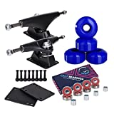 Cal 7 5.0 Inch Skateboard Trucks, 52mm Wheels, Plus Bearings Combo Set