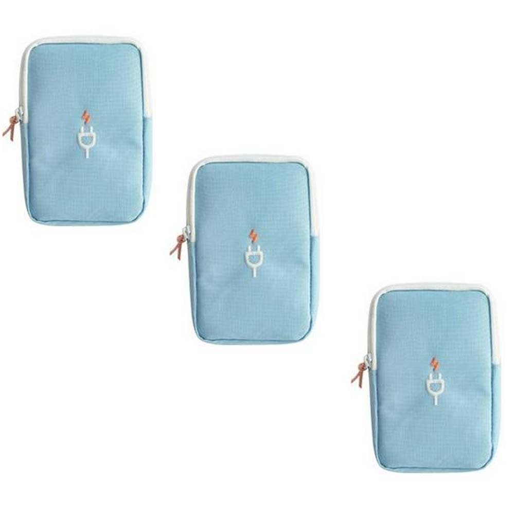 ANQI Travel Digital Storage Bag Portable Cosmetic Storage Bag Multifunctional Travel Bag Finishing Packages 3PCS