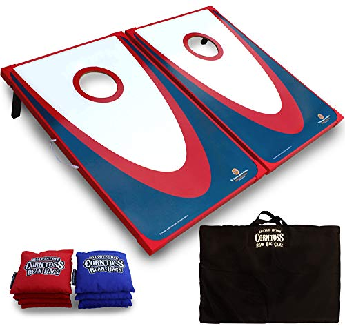 (Driveway Games Backyard Cornhole Set. Tailgate Corn Toss Boards & Bean Bags. Family Outdoor Lawn Yard Game)