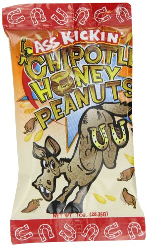 Ass Kickin' Chipotle Honey Peanuts, 1-Ounce Bags (Pack of ()