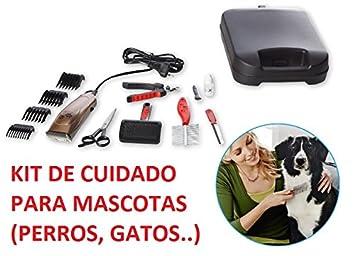KIT DE CUIDADO DE MASCOTAS PARA PERROS, GATOS CON 13 ACCESORIOS+MALETIN, CORTAPELOS