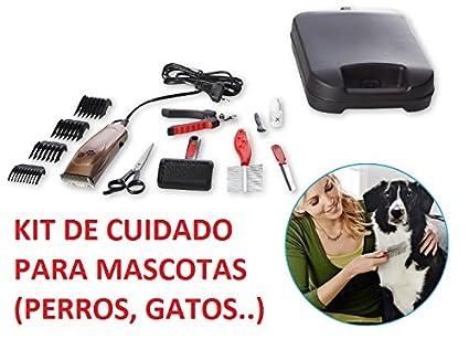 KIT DE CUIDADO DE MASCOTAS PARA PERROS, GATOS CON 13 ACCESORIOS+MALETIN, CORTAPELOS, TIJERAS: Amazon.es: Electrónica