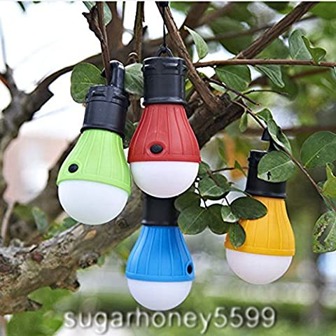 Colorful Camping Tent Light Bulb Outdoor Lantern with Bright LED Light with Hangable String - Ultra Pro Mini Helmet
