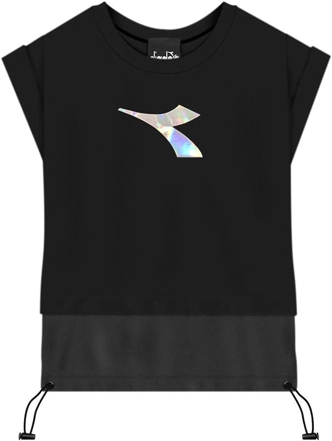 Diadora Tank - Camiseta negra para niño 022816-110: Amazon.es: Ropa y accesorios