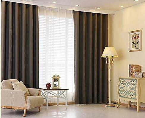Cortinas Cortinas modernas de cortinas gruesas de algodón y lino ...
