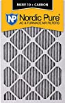 """Nordic Pure 18x20x1PM10C-6 Pleated MERV 10 Plus Carbon AC Furnace Filters (6 Pack), 18 x 20 x 1"""""""