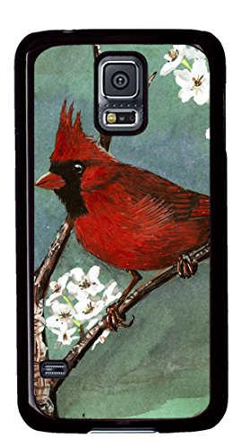 Cardinal Bird Art Painting Masterpiece Limited Design DIY PC Black Case for Samsung Galaxy S5 I9600 by Cases & - Mouse Wireless Cardinals