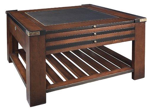 Authentic Models Spieltisch, Schwarz, Möbel in Military und Navy Stil