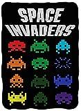 Space Invaders Vintage Video Game Fleece Throw Blanket