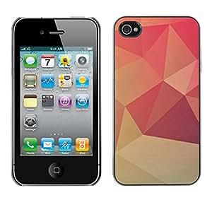 Cubierta de la caja de protección la piel dura para el Apple iPhone 4 / 4S - Neon Goth