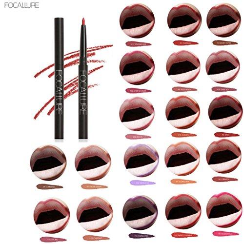 Binmer Focallure Lip Liner Pencil Pen Cosmetic Makeup Waterp