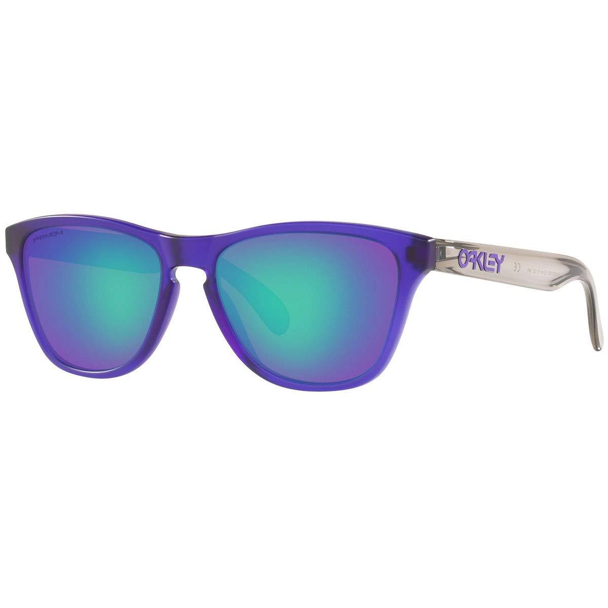 Oakley Boys OJ9006 Frogskins XS Round Sunglasses, Matte Translucent Purple/Prizm Sapphire, 53 mm by Oakley