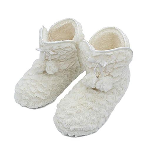 Zapatillas de casa para Mujer Botas de Tobillo con Forro de Felpa Botines de Interior de Piel sintética de Invierno: Amazon.es: Zapatos y complementos