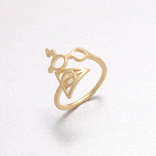 Harry Potter Lightning Scar Glasses Deathly Hallows Ring