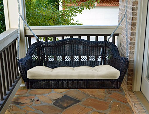 Portside Porch Swing - Dark Roast - With Cushion (Rattan Swings)