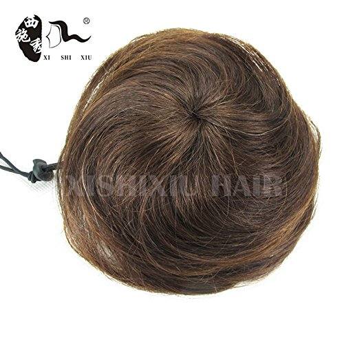 Beauty : 100% Human Hair Bun 30g Elastic Hair Chignon Bun Natural Clip In Hairpiece Apply Fake Hair Bun Extensions Xishixiu Hair (4)