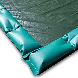 winterabdeckung con tubos resistente al viento para piscina 25x 12,5