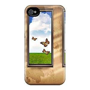 LkKKgCE7425ZMqgu Case Cover Butterflies Iphone 4/4s Protective Case